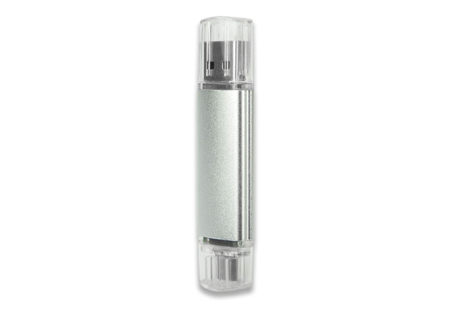 Cep Telefonu Uyumlu Flash Bellek 16 GB (OTG) Metalik