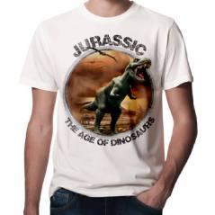 Jurassic Park Dinazor Baskılı 3D Tişört-1505C