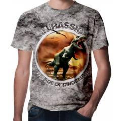 Jurassic Park Dinazor Baskılı 3D Tişört-1505 Jura 5