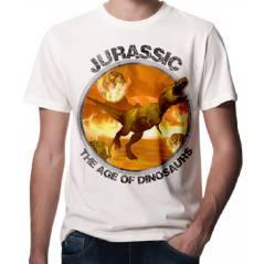 Jurassic Park Dinazor Baskılı 3D Tişört-1506C
