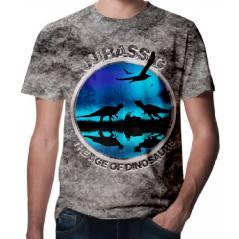 Jurassic Park Dinazor Baskılı 3D Tişört-1508
