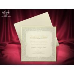Style Lüks Düğün Kartı 3663