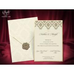 Style Lüks Düğün Kartı 3684