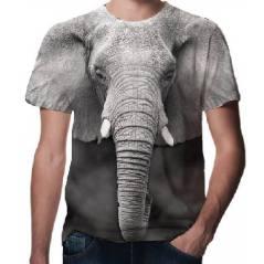 Fil Desenli 3D Tişört