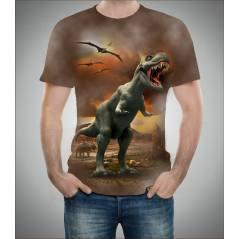 Dinazor Desenli 3D Tişört