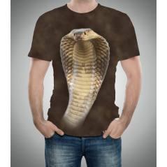 Kobra Desenli 3D Tişört