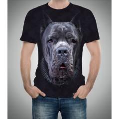 Mastiff Köpek Desenli 3D Tişört