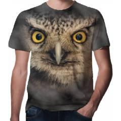 Baykuş Desenli 3D Tişört