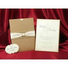 Style Lüks Düğün Kartı 3718