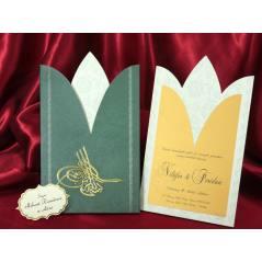 Style Lüks Düğün Kartı 3725