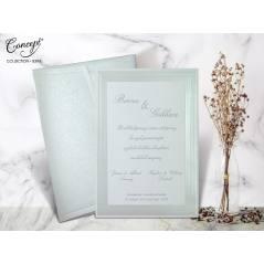 Şerit kenar detaylı düğün kartı - Concept 5396