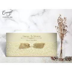 Kurdele detaylı düğün kartı - Concept 5463