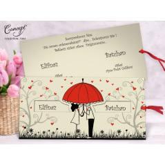 Karikatürize düğün kartı - Concept 5484