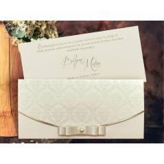 Aksesuar detaylı düğün kartı - Concept 5487