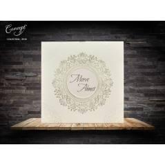Kendinden kabartmalı düğün kartı - Concept 5535