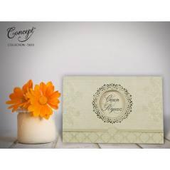Desenli düğün kartı - Concept 5623