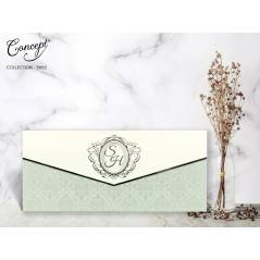 Kendinden kabartmalı düğün kartı - Concept 5662