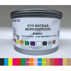 Dyo Toyo Floresan Sarı Matbaa Boyası P-803 - 1Kg