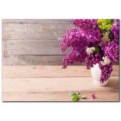 Mor Çiçek Temalı Kanvas Tablo