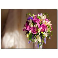 Vazoda Çiçek Buketi Tablo