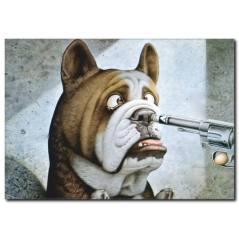 Suçlu Köpek Temalı Kanvas Tablo