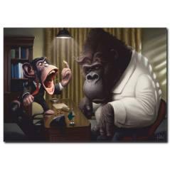 Patron Goril Temalı Kanvas Tablo