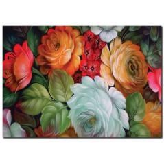 Çiçek Detaylı Yağlıboya Tablo