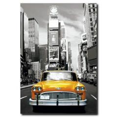 Newyork' ta Sarı Taksi Temalı Kanvas Tablo