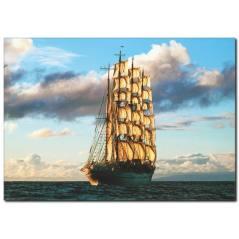 Korsan Gemisi Temalı Kanvas Tablo