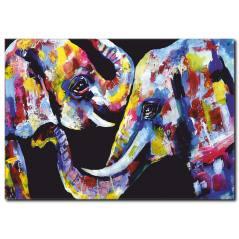 Renkli Filler Temalı Kanvas Tablo