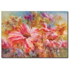 Floral Yağlıboya Kanvas Tablo