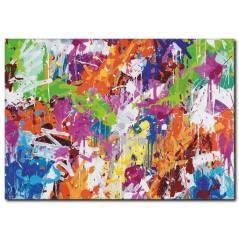 Renkli Yağlıboya Kanvas Tablo