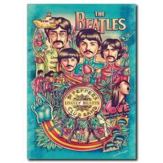 The Beatles Poster Kanvas Tablo