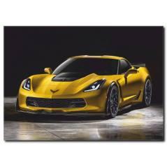 Lüks Sarı Araba Kanvas Tablo CC1023