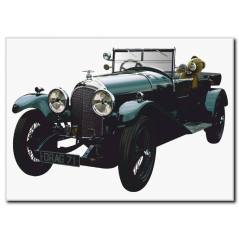 Ayıcık Detaylı Antika Araba Tablosu CC1026