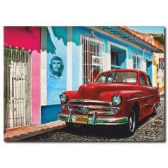 Klasik Araba Küba Kanvas Tablo CC1027