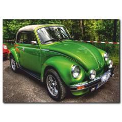 Yeşil Vosvos Araba Kanvas Tablo CC1036