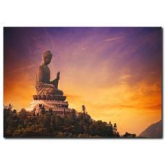 Buddha Manzaralı Tablo