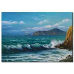 Deniz Manzaralı Yağlı Boya Kanvas Tablo
