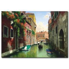 Venedik Sandal Manzara Yağlı Boya Tablo