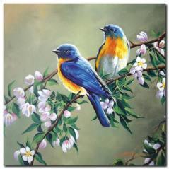 Küçük Kuşlar Yağlı Boya Kanvas Tablo