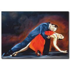 Dans Eden Çift Yağlı Boya Tablo