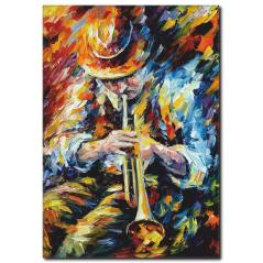 Müzisyen Adam Yağlı Boya Kanvas Tablo