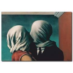Rene Magritte Lovers Kanvas Tablo