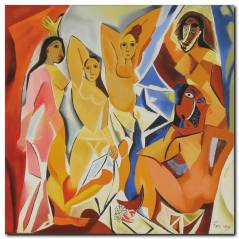 Avignonlu Kızlar Kanvas Tablo