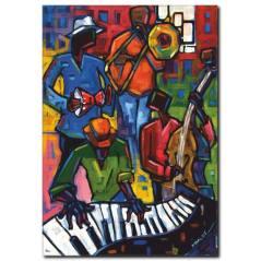 Renkli Müzisyenler Temalı Kanvas Tablo