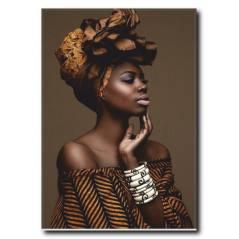 Siyahi Kadın Kanvas Tablo WM-1002
