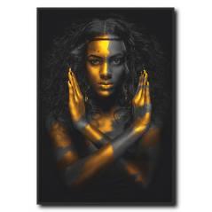 Siyahi Kadın Kanvas Tablo WM-1004