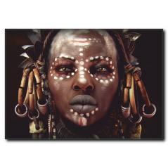 Afrikalı Kadın Kanvas Tablo WM-1005