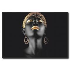 Siyahi Kadın Kanvas Tablo WM-1007